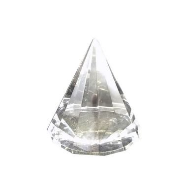Pirâmide Facetada Vidro incolor