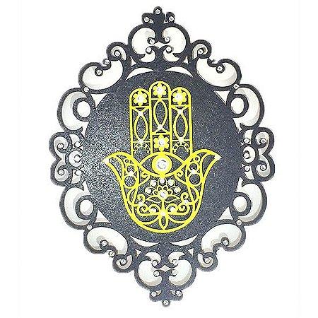 Mandala Mão Hamsa em MDF
