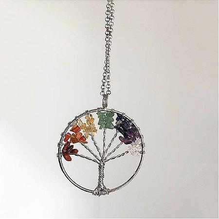 Colar Árvore da Vida com chakras