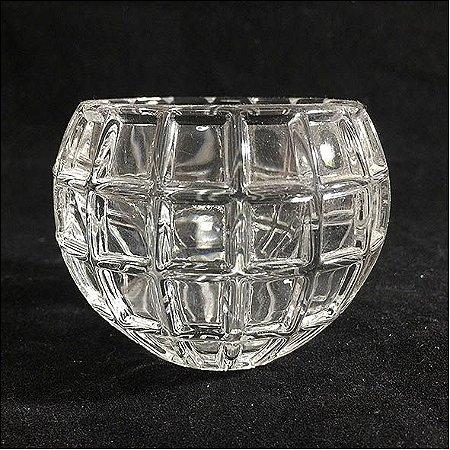 Porta velas de vidro quadriculado