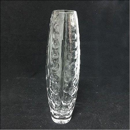 Vaso Cristal com Bolinhas em baixo relevo
