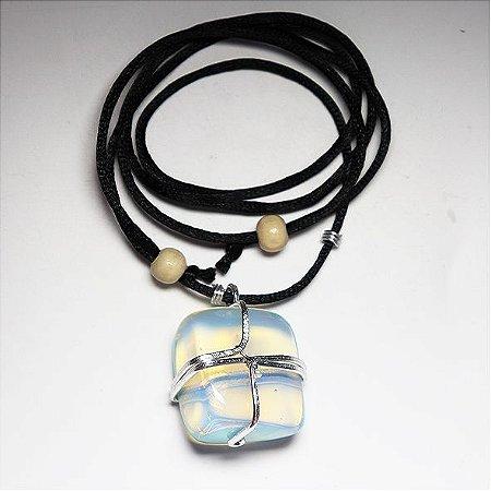 Colar Opalina (Pedra da Lua)