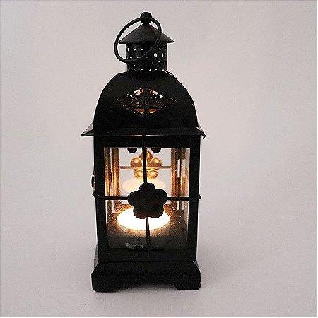 Lanterna Porta Velas flor