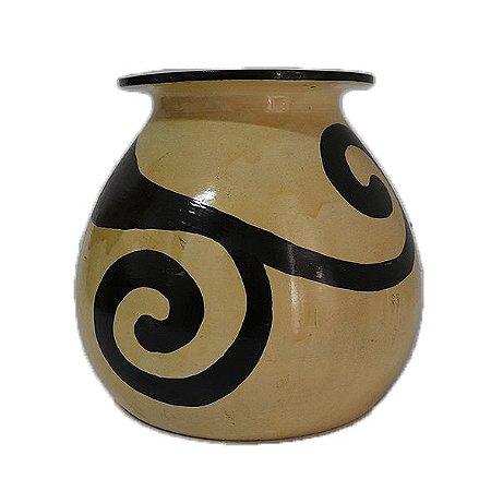 Vaso de cerâmica decorado