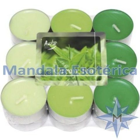 Vela T'Light Chá Verde Pacote C/ 18