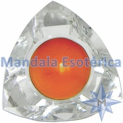 Castiçal de vidro Triangular
