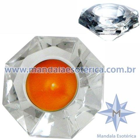 Castiçal de Vidro Diamante