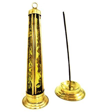 Incensário Torre de Vidro Amarela