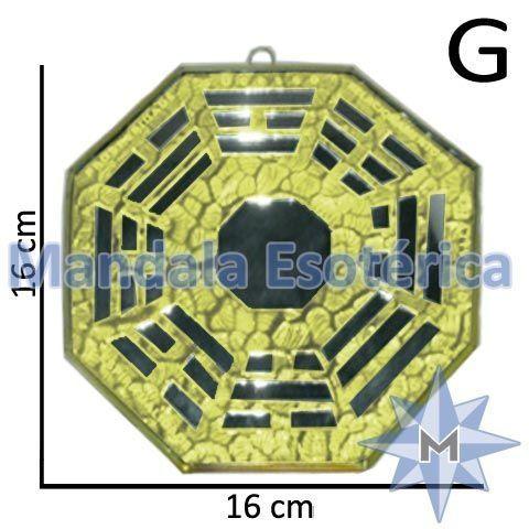 Baguá de Vidro Espelhado Amarelo G
