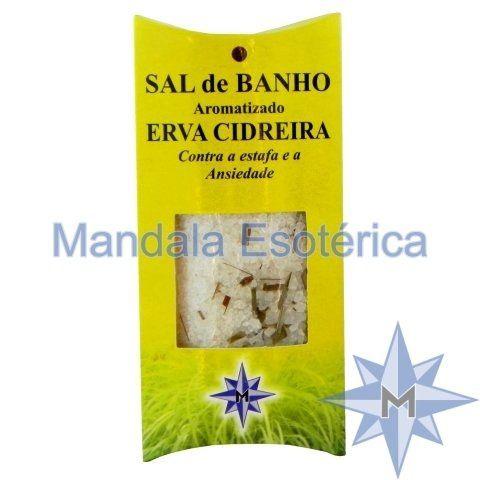 Sal de Banho Aromatizado Erva Cidreira - 100g