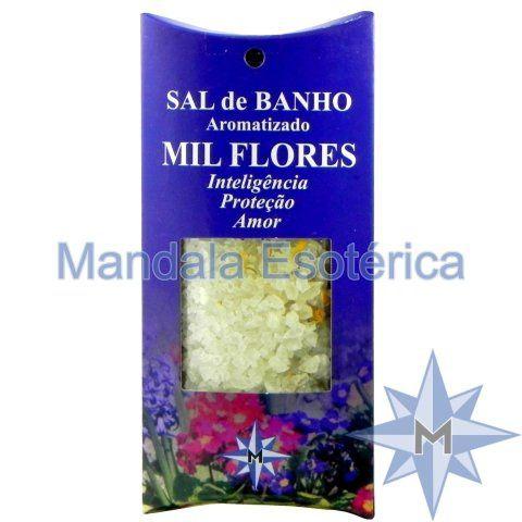 Sal de Banho Aromatizado - Mil Flores - 100g