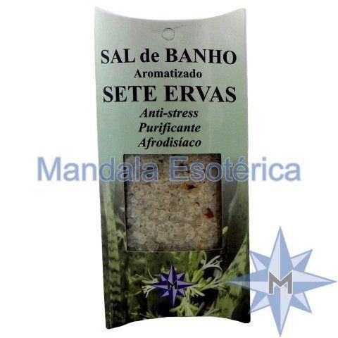 Sal de Banho Aromatizado - Sete Ervas - 100g