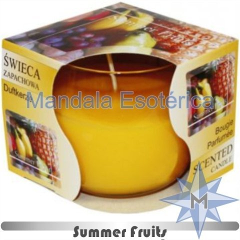 Vela copo perfumada frutas do verão