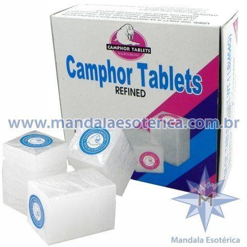 Caixa com 16 tabletes de canfora