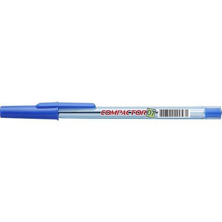 Caixa caneta esferografica 0,7mm Azul - Compactor