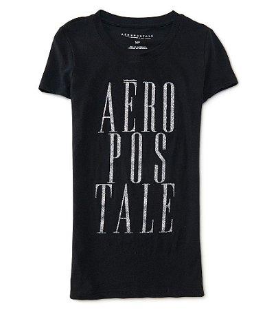 Camiseta aeropostale feminina aero glitter stack graphic