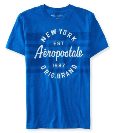 Camiseta Aeropostale masculina Circle Stripe Logo Graphic T Shirt