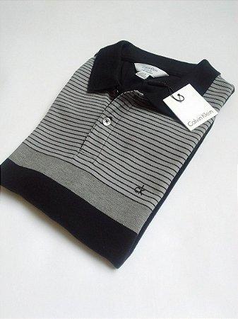 Camisa Polo Calvin Klein Jeans Preta