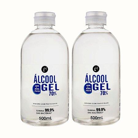 KIT ALCOOL EM GEL (2 UNIDADES) 500ML