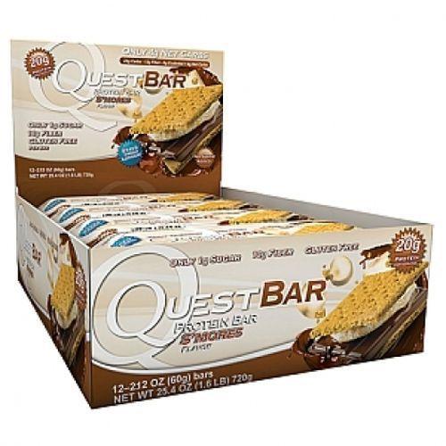 QuestBar Barra de Proteínas Quest Nutrition Biscoito S'mores 12 Unidades