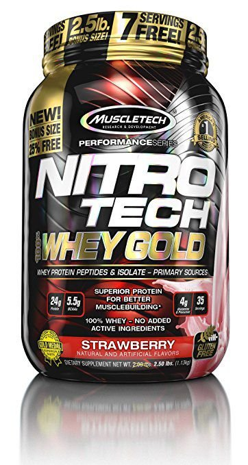 Nitro Tech 100% Whey Gold MuscleTech 1130g