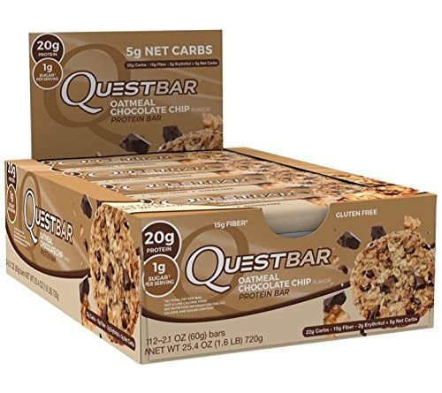 QuestBar Barra de Proteínas Quest Nutrition Oatmeal Chocolate Chip 12 Unidades
