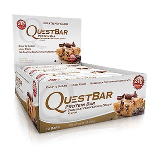 QuestBar Barra de Proteínas Quest Nutrition Chocolate Chip Cookie Dough 12 Unidades