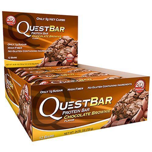 QuestBar Barra de Proteínas Quest Nutrition Chocolate Brownie 12 Unidades