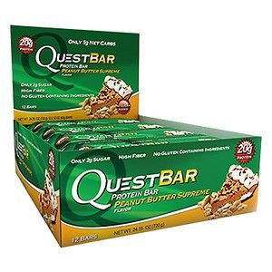 QuestBar Barra de Proteínas Quest Nutrition Peanut Butter Supreme 12 Unidades