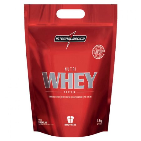 Nutri Whey Protein Body Size Integralmédica Chocolate 1800g