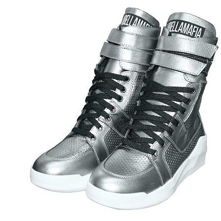 Tênis Sneakers Labellamafia 60110 Prateado