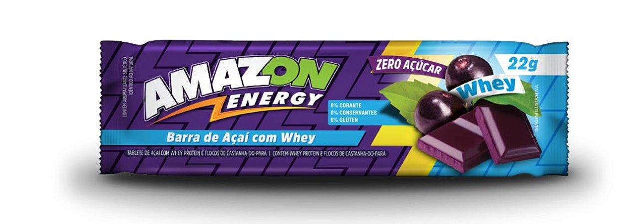 Barra de Açaí com Whey Amazon Energy 10 Unidades