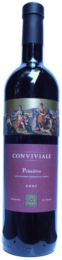 Vinho Tinto Italiano Primitivo di Puglia Conviviale 750 ml