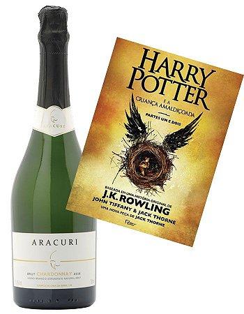 Espumante Aracuri Chardonnay Brut + Livro Harry Potter e a criança amaldiçoada