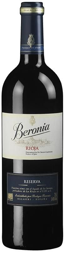 Vinho Tinto Espanhol Beronia Reserva 750 ml