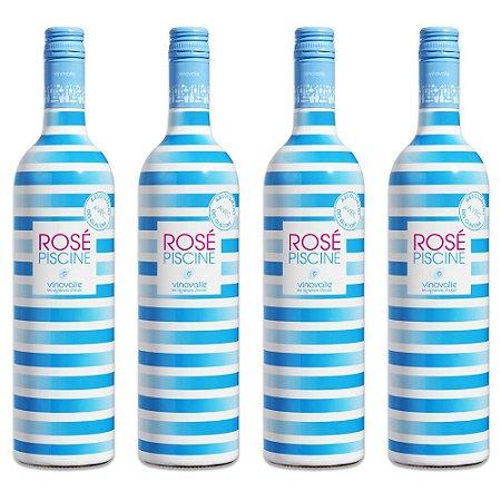 Rosé Piscine Stripes Edição Limitada - 4 garrafas