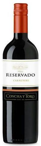 Vinho Tinto Chileno Concha y Toro Reservado Carmenere 750 ml