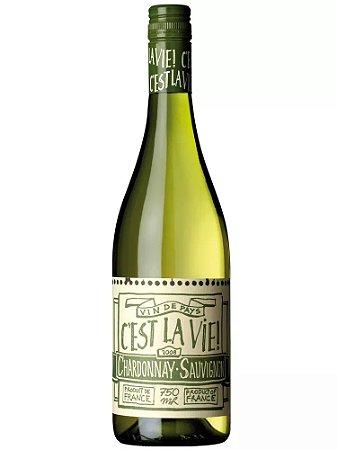 Vinho Branco Francês C'est La Vie Blanc Chardonnay Sauvignon Blanc 750 ml