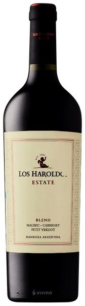 Vinho Tinto Argentino Los Haroldos Estate Blend 750 ml