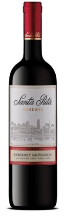 Vinho Tinto Chileno Santa Rita Reserva Cabernet Sauvignon 750 ml