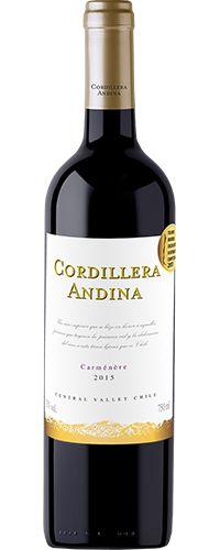 Vinho Tinto Chileno Cordillera Andina Carménère 750 ml