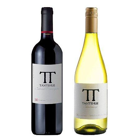 Kit de Vinhos Chilenos Tantehue Cabernet Sauvignon e Chardonnay 750 ml