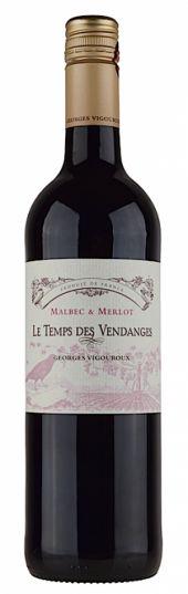 Vinho Tinto Francês Georges Vigouroux Le Temp Des Vendages 750 ml