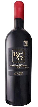 Vinho Tinto Italiano Dal 1947 Setantanni Primitivo di Manduria DOP 750 ml