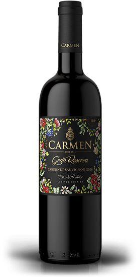 Vinho Tinto Chileno Carmen Gran Reserva Carmenere Frida Kahlo 750 ml