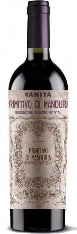 Vinho Tinto Italiano Vanitá Primitivo di Manduria DOP 750 ml