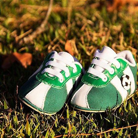 Chuteira de Bebê Futebol - Verde e Branco - Htinhos