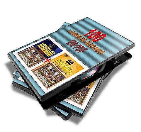 DVD com 100 Livros de Desenho em PDF