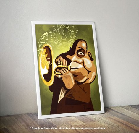 Pôster Caricatura Louis Armstrong