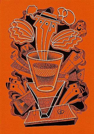 """Desenho série """"OutOFboX #18"""" nanquim s/ papel Canson - arte original com moldura"""